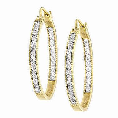 96 Ct T W Diamond Yellow Gold Earrings H I I1 Sam S Club