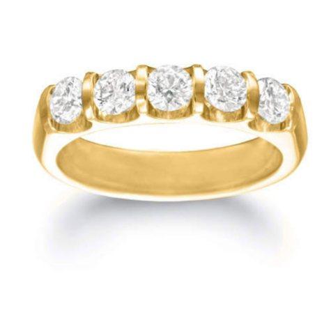 .71 ct. t.w. Five-Stone Diamond Band (I, I1)