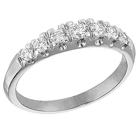 0.46 CT. T.W. Diamond Wedding Band in White Gold (I, SI2)