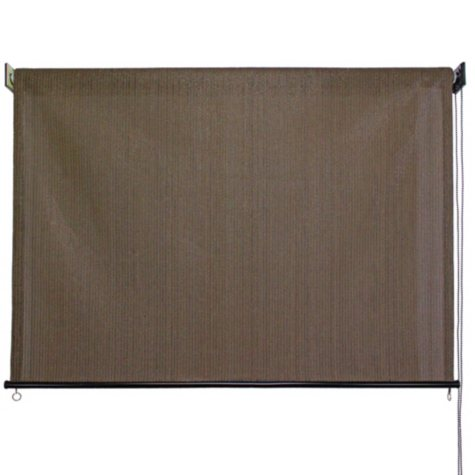 4' x 6' Outdoor Solar Shade, Cord Roller Controlled, Multiple Colors