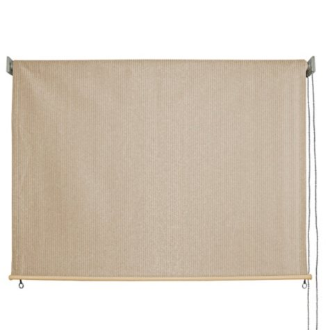 8' x 6' Outdoor Solar Shade, Cord Roller Controlled, Multiple Colors