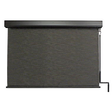 Crank Operated Solar Shade, Fabric Color - Kona