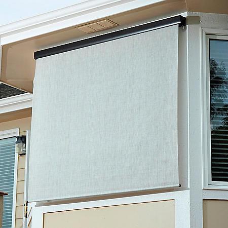 Crank Operated Solar Shade, Fabric Color - Caribbean