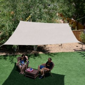10' x 10' Square Shade Sail, Multiple Colors
