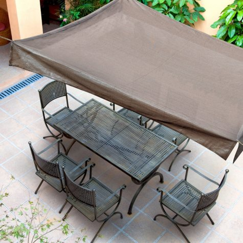 Outdoor Shade Sail, 10' x 10' Floating Gazebo, Multiple Colors