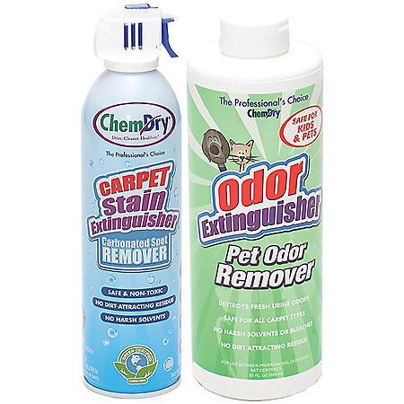 Chem-dry Stain & Pet Odor Extinguisher Pack With Lemon Grove Carpet Deodorizer