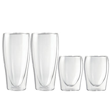 Starfrit Double-Wall Glass Verrines, 4 Piece (13 oz., 5.6 oz.)