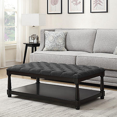 Westfield Coffee Table Ottoman - Charcoal