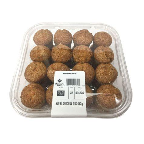 Member's Mark Mini Pumpkin Muffins (27 oz., 32 ct.)