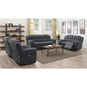 Celeste 3 Piece Sofa Loveseat Amp Chair Set Carbon Sam