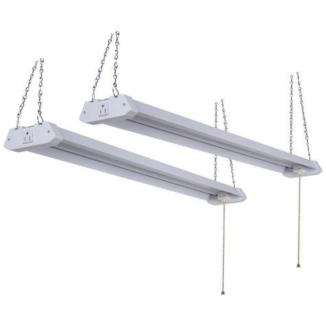 GreenWatt 4-ft. Linkable LED Shoplight (2 pk.)