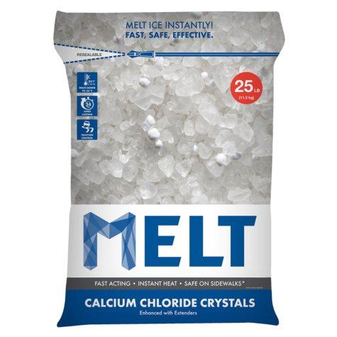 MELT 25 Lb. Resealable Bag Calcium Chloride Crystals Ice Melter - MELT25CC