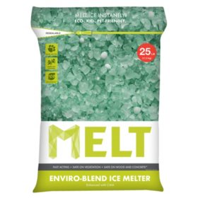 MELT 25 lb. Resealable Bag Premium Enviro-Blend Ice Melter w/ CMA - MELT25EB