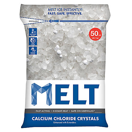 MELT 50 Lb. Resealable Bag Calcium Chloride Crystals Ice Melter - MELT50CC
