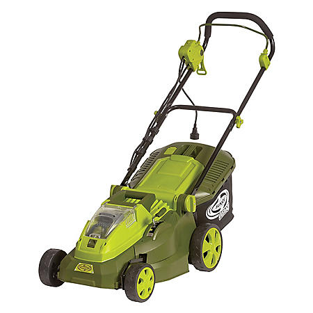 "Sun Joe 40V Hybrid Cordless or Electric 16"" Lawn Mower"