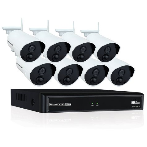Night Owl 8-Channel 1080p NVR Surveillance System with 1TB Hard Drive, 8-Camera 1080p Indoor/Outdoor Cameras