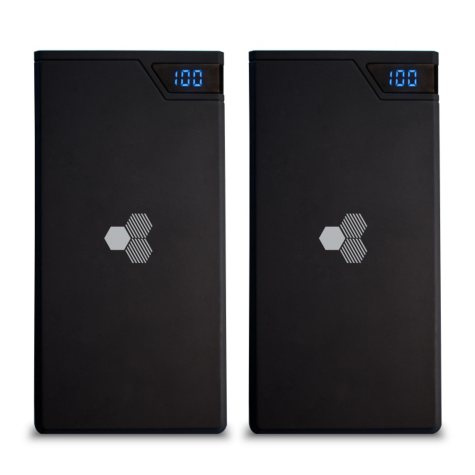 Honeycomb 10,000 mAh Portable Chargers (2 Pack)