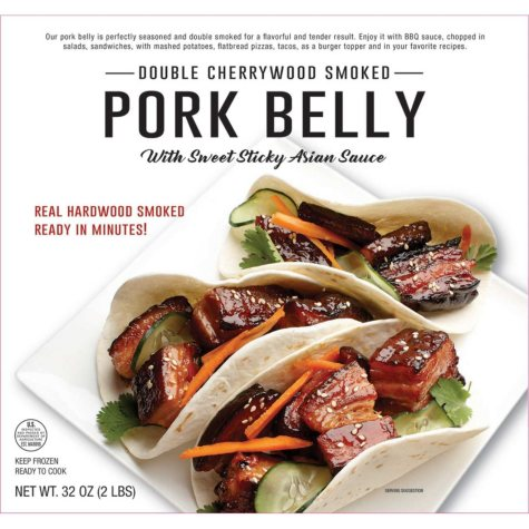 Double Cherrywood Smoked Diced Pork Belly with Asian Sauce, Frozen (32 oz.)