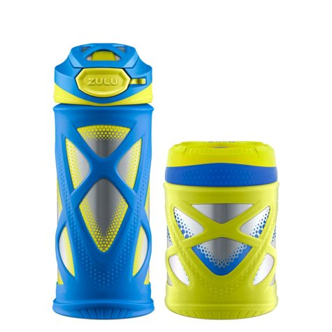 Zulu Kids Water Bottle and Canister Set (Assorted Colors)