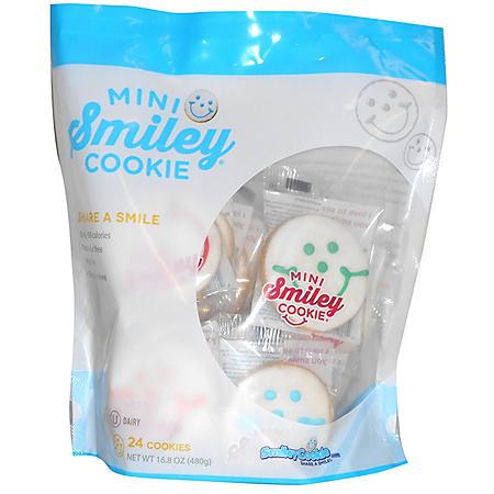 Smiley Cookies Mini Smiley Cookie (16.8 oz., 24 ct.)