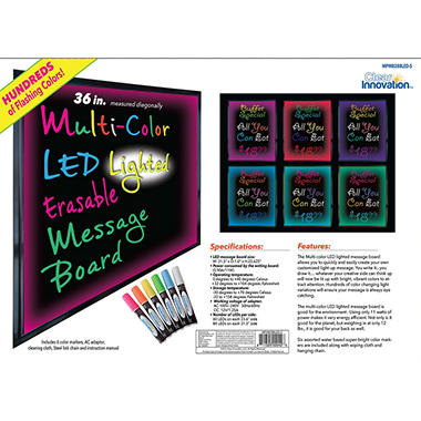 Clear Innovation Multi-Color LED Lighted Message Board
