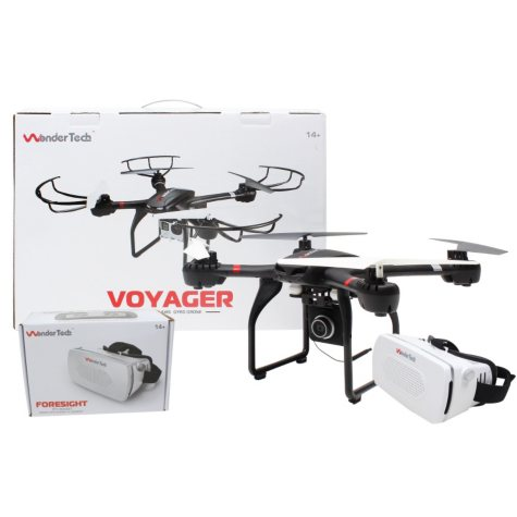 WonderTech Voyager W400R and Foresight Headset Drone Bundle (Assorted Colors)