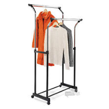 Honey-Can-Do Adjustable Height Double Flared Garment Rack