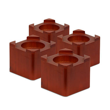 honey-can-do solid wood bed risers (4-pack) - sam's club