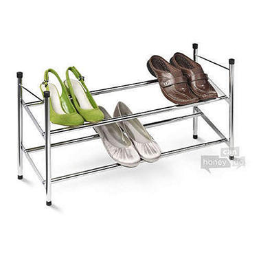 Honey-Can-Do 2-Tier Expandable Shoe Rack (Chrome)