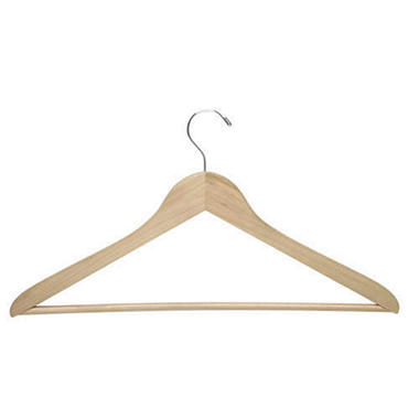 Honey-Can-Do Maple Finish Wooden Hangers (24-pack)