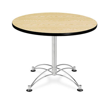 Round Multi-Purpose Table - Chrome Base - Various Sizes and Colors