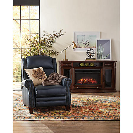 Reagan Leather Press Back Recliner