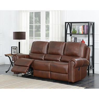 Member S Mark Harrison Dual Reclining Leather Sofa