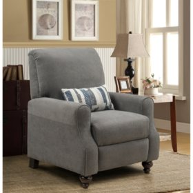Shelby High Leg Recliner with Kidney Accent Pillow