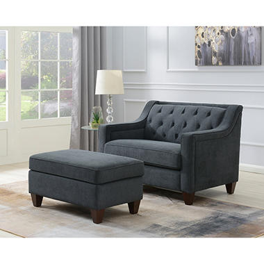 Ethan Chair And Storage Ottoman Assorted Colors Sam S Club