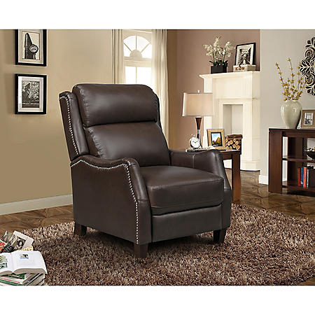 Jaxon Leather Press Back Recliner (Assorted Colors)