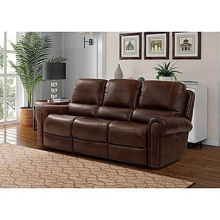 Harrison Power Recline Leather Sofa