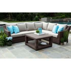 Alder 5 Piece Sectional With Sunbrella Fabric