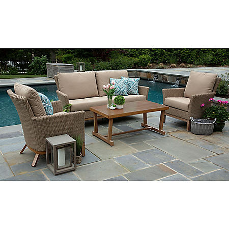 Cottonwood 4-Piece Deep Seating Set with Sunbrella Fabric
