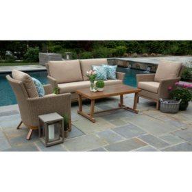 Cottonwood 4-Piece Deep Seating Set with Sunbrella Fabric