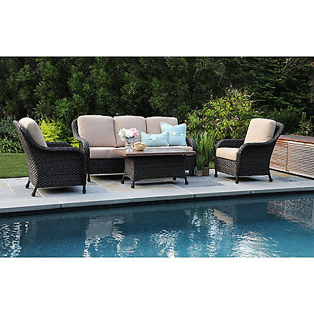 Sycamore 4-Piece Deep Seating Set with Sunbrella Fabric