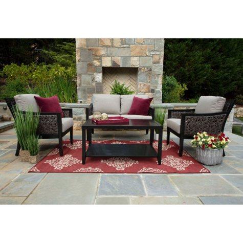 Hawthorn 4-Piece Deep Seating Set with Sunbrlla Fabric