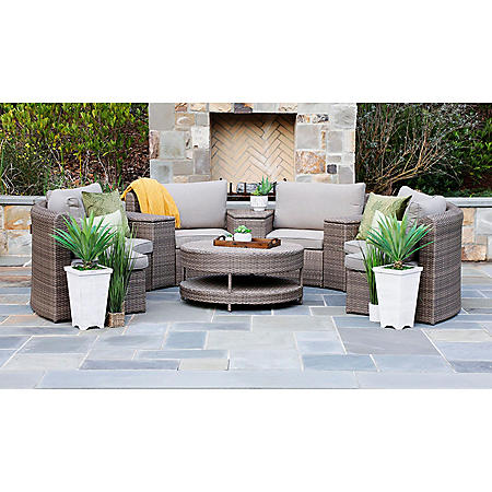 Cyprus 8-Piece Sectional Set with Sunbrella Fabric