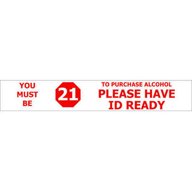T3 Must be 21/ Have ID Ready Decal, 22