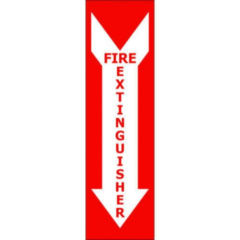 """T3 Fire Extinguisher Decal,  4"""" x 14""""  (6 pk.)"""