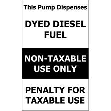 "Pump/ Dyed Diesel - 6"" x 10"" Decal - 6 Pack"