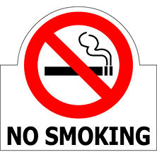 "No Smoking - 6"" x 5 1/2"" Die Cut Decal - 6 Pack"