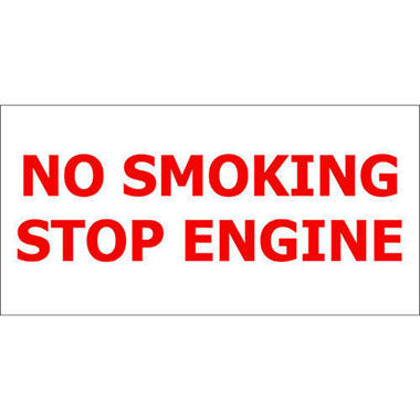 T3 No Smoking/ Stop Engine Decal, 12