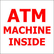 "ATM Machine Inside - 6"" x 6"" Decal - 6 Pack"