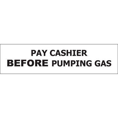 T3 Pay Cashier Before Pumping Gas Decal, 8